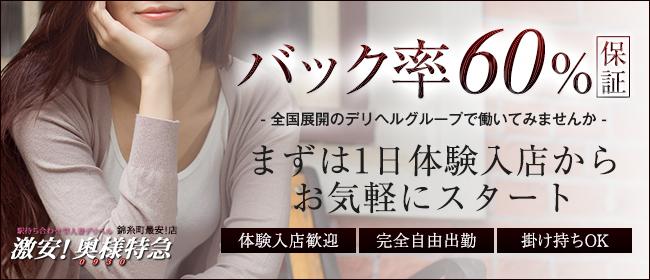 激安!奥様特急錦糸町店 日本最安!