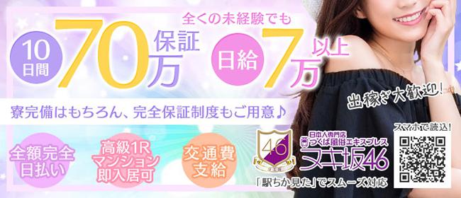 つくば風俗エキスプレス ヌキ坂46(つくばデリヘル店)の風俗求人・高収入バイト求人PR画像1