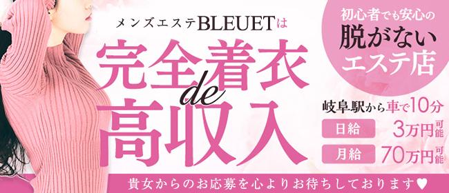 BLEUET~ブルエ(岐阜市内・岐南)の一般メンズエステ(店舗型)求人・高収入バイトPR画像1