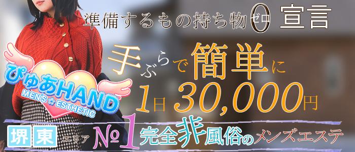 ぴゅあHAND(堺)の一般メンズエステ(店舗型)求人・高収入バイトPR画像1