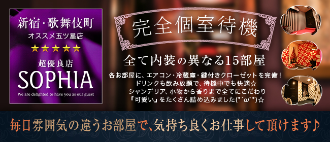 SOPHIA(新宿・歌舞伎町)の店舗型ヘルス求人・高収入バイトPR画像2