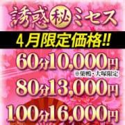 「【4月限定価格】」04/21(土) 09:02 | 誘惑マル秘ミセスのお得なニュース
