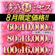 「【8月限定価格】」08/21(火) 14:31 | 誘惑マル秘ミセスのお得なニュース