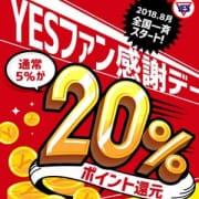 「【なんと20%還元!!】YESファン感謝デー☆」08/19(日) 18:42   華女(かのじょ)松山店のお得なニュース