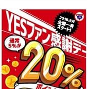 毎月20日開催!!YESファン感謝DAY☆ポイント大還元祭!! YESグループ PLATINA R-30