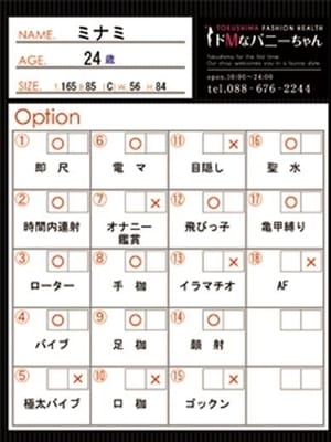 ミナミ(ドMなバニーちゃん徳島店)のプロフ写真6枚目