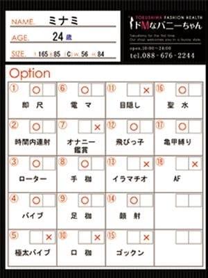 ミナミ(ドMなバニーちゃん徳島店)のプロフ写真7枚目