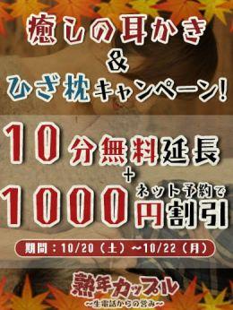 癒しの耳かき&ひざ枕キャンペーン | 熟年カップル名古屋~生電話からの営み~ - 名古屋風俗