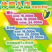 「体験入店割引実施中♪」03/19(月) 00:30 | COCO幕張店のお得なニュース