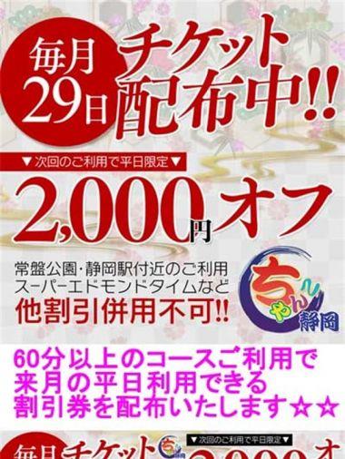 割引チケット配布 静岡駅前ちゃんこ - 静岡市内風俗