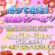 「帰ってきた! Re お正月ク~ポン」01/16(水) 17:07 | 水戸人妻花壇のお得なニュース