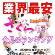 「最新 ランキング情報」08/28(金) 23:55   club さくら日本橋店のお得なニュース