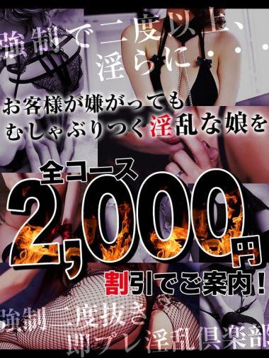 全コース2,000円割引!!|強制ニ度抜き即プレ淫乱倶楽部 - 六本木・麻布・赤坂風俗