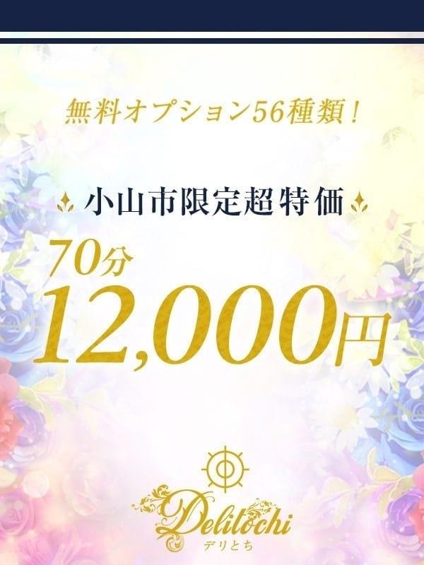 ☆ 小山市限定超特価☆【70分コース¥12000】