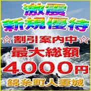 「激震♪新規優待」05/07(金) 18:35 | 錦糸町人妻城のお得なニュース