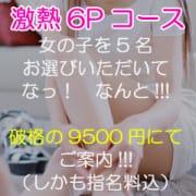 「激熱!6Pコース!破格の9,500円!!!」09/19(土) 10:02 | 渋谷ミルクのお得なニュース