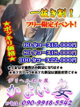 ★今だけ!駅チカ特別割引イベント★   デリヘル名古屋 かよい妻 - 名古屋風俗