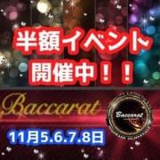 「【4日間限定】半額イベント☆」11/09(金) 10:16 | Baccarat(バカラ)のお得なニュース