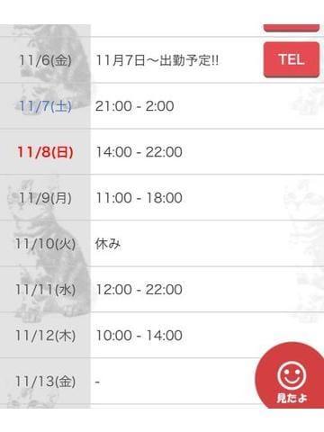 「11月出勤日程☆(忘れてました)」10/24(10/24) 12:17   なおの写メ・風俗動画