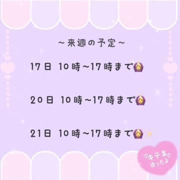 「来週の予定!!」05/16(05/16) 11:05   あんにんの写メ