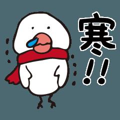 「寒い(>_