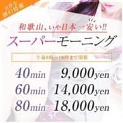「和歌山NO.1の安さ!赤字覚悟大奉仕価格!スペシャルイベント『スーパーモーニング割』」09/26(水) 13:03 | ときめきのお得なニュース