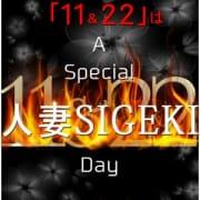 「11月最後の人妻SIGEKIの日 最高のひと時を!!」11/22(木) 02:32   人妻SIGEKIのお得なニュース