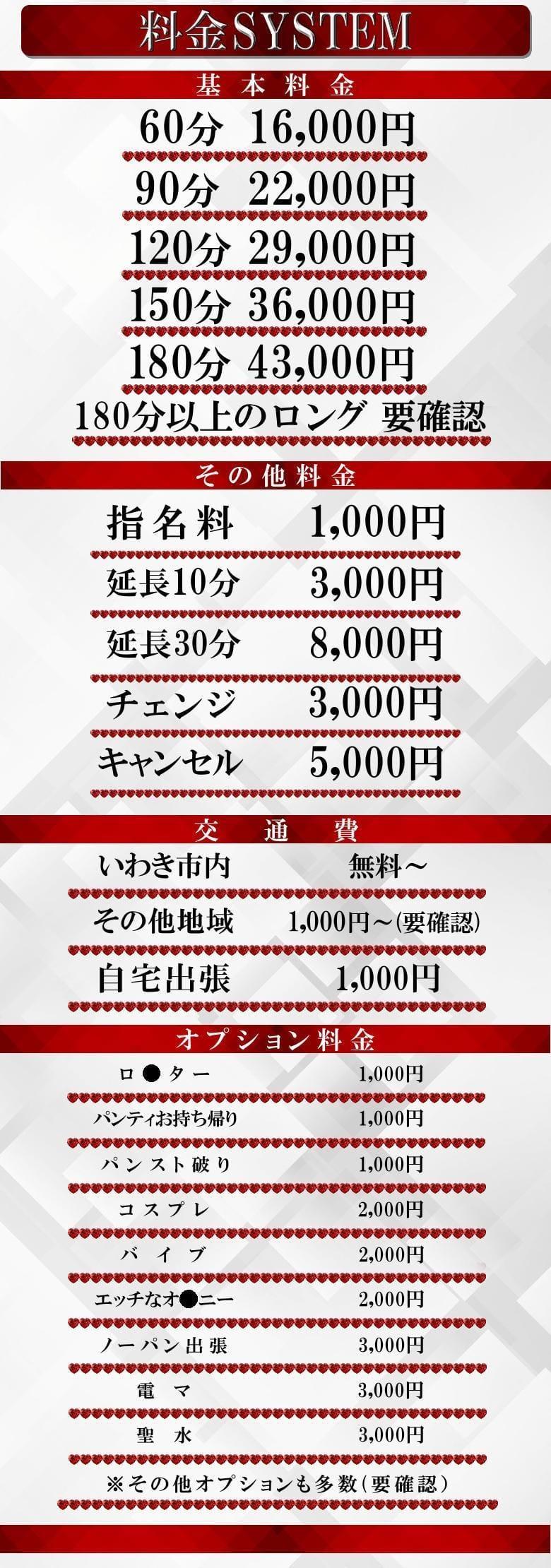【Platinum Girl】の料金システム